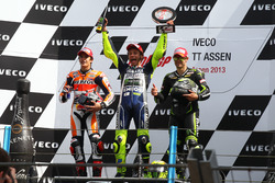 Podium: 1. Valentino Rossi, Yamaha; 2. Marc Marquez, Honda; 3. Cal Crutchlow, Yamaha