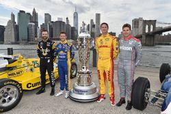 James Hinchcliffe, Schmidt Peterson Motorsports Honda, Marco Andretti, Andretti Autosport Honda, Rya