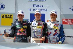 Podium, rookie, Niko Kari, Motopark Dallara F312 – Volkswagen, Joel Eriksson Motopark Dallara F312 – Volkswagen, Ben Barnicoat HitechGP Dallara F312 – Mercedes-Benz