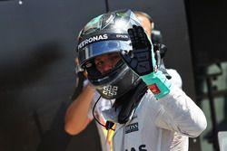 Nico Rosberg, Mercedes AMG F1 celebra su segundo puesto en parc ferme
