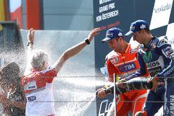 Ganador, Andrea Iannone, Ducati Team, tercero, Jorge Lorenzo, Yamaha Factory Racing, Gigi Dall'Igna,