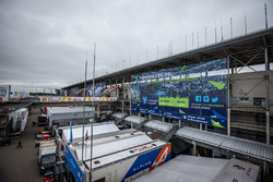 Vista del paddock de Le Mans