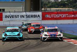 Jean-Karl Vernay, Leopard Racing, Volkswagen Golf GTI TCR en Vladimir Sheshenin, Liqui Moly Team Eng