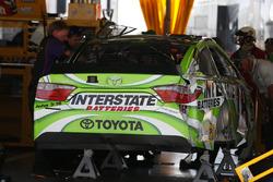 Das Auto von Kyle Busch, Joe Gibbs Racing, Toyota, nach Crash