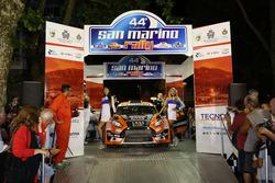 Partenza: Simone Tempestini, Marc Banca, Ford Fiesta R R5, Winners Rally Team