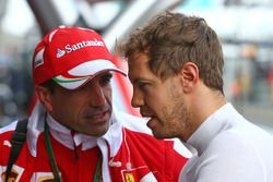 Marc Gene, Ferrari Test Driver with Sebastian Vettel, Ferrari