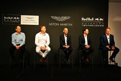Andy Palmer, Chief Executive Officer Aston Martin, Christian Hormer, Red Bull Racing Team Principal, Adrian Newey, Chief Technical Officer Red Bull Racing, Marek Reichman, Chief Creative Officer and Design Director Aston Martin