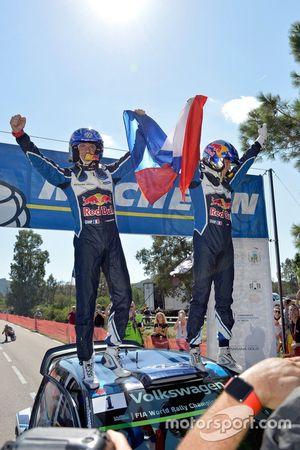 Winner Sébastien Ogier, Julien Ingrassia, Volkswagen Polo WRC, Volkswagen Motorsport