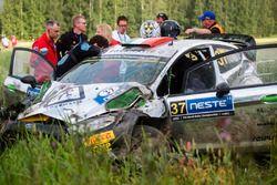Crash: Lorenzo Bertelli, Simone Scattolin, Ford Fiesta WRC