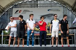 Raffaele Marciello, RUSSIAN TIME, Daniel de Jong, MP Motorsport, Arthur Pic, Rapax, Nabil Jeffri, Arden International, Nicholas Latifi, DAMS et Norman Nato, Racing Engineering