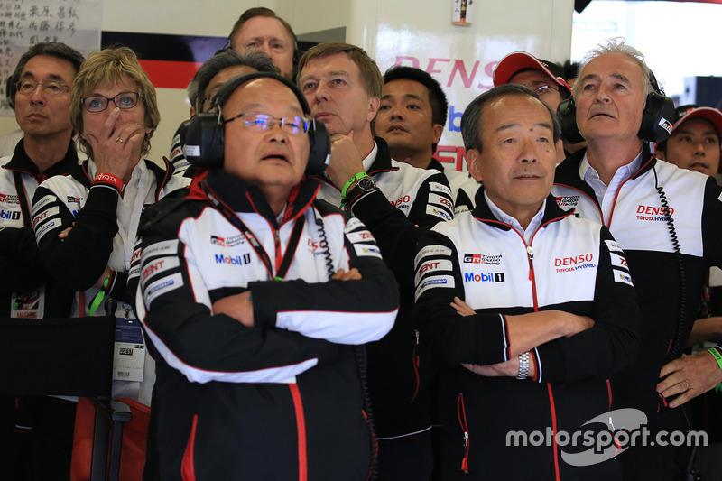 Miembros del equipo Toyota Racing