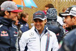 Carlos Sainz Jr., Scuderia Toro Rosso avec Felipe Massa, Williams et Sergio Perez, Sahara Force India F1