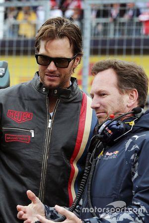 Christian Horner, Team Principal Red Bull Racing avec Tom Brady, Quarterback des New England Patriots