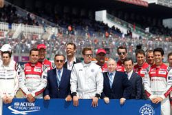 Groupshot, FIA Safety road action with Pierre Fillon, ACO President and Bratt Bitt