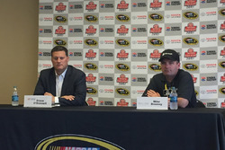 Pressekonferenz: Steve O'Donnell, NASCAR-Rennchef; Mike Downey, Microsoft