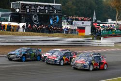 Andreas Bakkerud, Hoonigan Racing Division Ford, Timmy Hansen, Team Peugeot Hansen, Tanner Foust, Vo