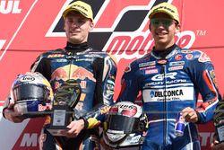 Podium: race winner Enea Bastianini, Gresini Racing Team Moto3, second place Brad Binder, Red Bull KTM Ajo