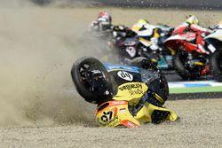 Alex Rins, Paginas Amarillas HP 40, crash