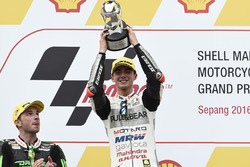 Podium: race winner Francesco Bagnaia, Aspar Team Mahindra Moto3