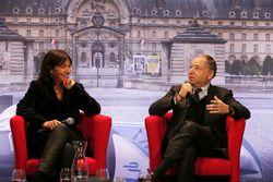 Anne Hidalgo, mayor of Paris; Jean Todt, FIA president