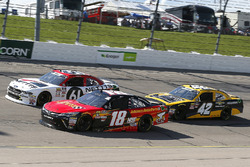 Riley Herbst, Joe Gibbs Racing, Toyota Camry Advance Auto Parts and Kaz Grala, Fury Race Cars LLC, Ford Mustang NETTTS