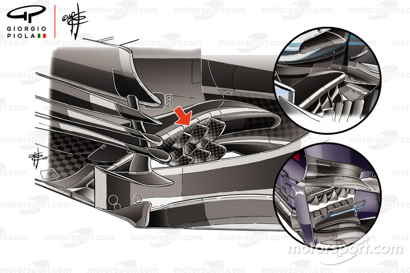 Bargeboard del Haas F1 Team VF-18
