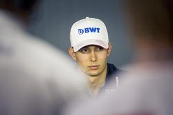 Esteban Ocon, Force India F1 in the Press Conference