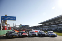 DTM and Super GT cars in the starting grid