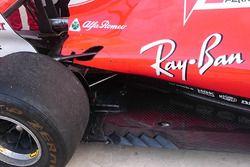Ferrari SF70H dettaglio del fondo