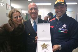 Paolo Andreucci e Anna Andreussi ricevono la stella per i dieci titoli italiani dal Presidente ACI, Angelo Sticchi Damiani