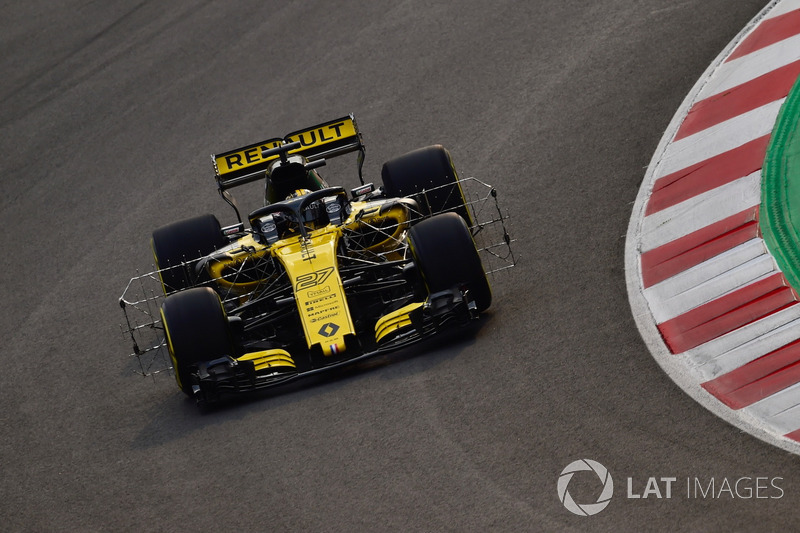 Nico Hulkenberg, Renault Sport F1 Team RS18, sensori aerodinamici