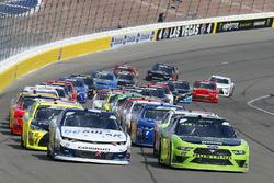 Ryan Blaney, Team Penske, Ford Mustang Fitzgerald Glider Kits e Kyle Larson, Chip Ganassi Racing, Chevrolet Camaro DC Solar