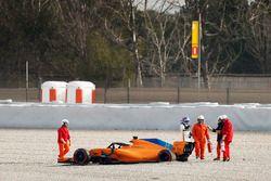 Sortie de piste de Fernando Alonso, McLaren MCL33