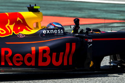 Max Verstappen, Red Bull Racing RB12 TAG Heuer, 1st Position, celebrates on his way to Parc Ferme