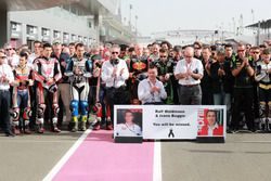 Минута молчания в память о Ральфе Вальдмане и Ивано Беджо
