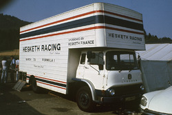 Hesketh Racing team's truck in de paddock