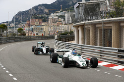 Koke Rosberg is reunited with his 1982 Williams FW08 Cosworth in a demonstration run with son Nico Rosberg, who took the wheel of his 2016 Mercedes W07 Hybrid