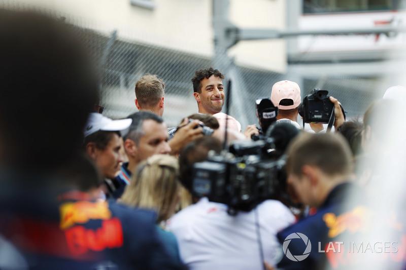 Daniel Ricciardo, Red Bull Racing, sur la grille