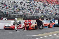 Ryan Blaney, Team Penske, Ford Fusion REV, Daniel Suarez, Joe Gibbs Racing, Toyota Camry ARRIS