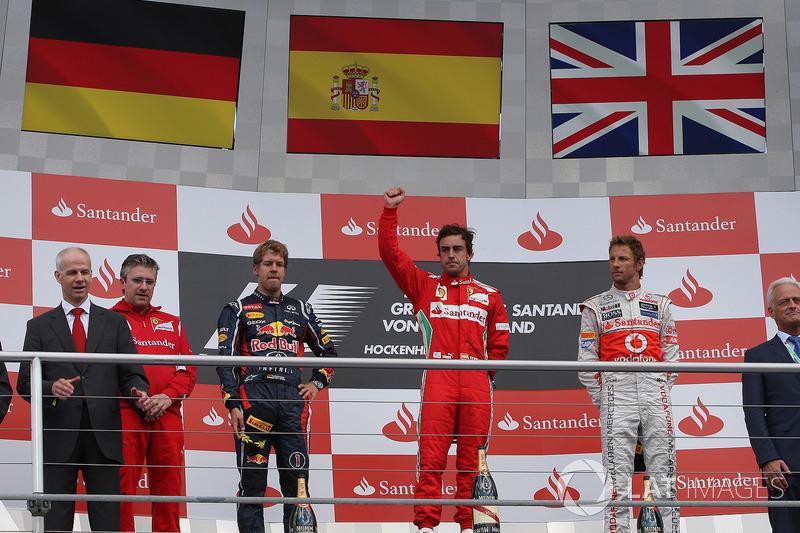 2012: Fernando Alonso (Ferrari) statt Sebastian Vettel (Red Bull)
