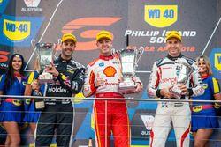Podyum: Yarış galibi Scott McLaughlin, DJR Team Penske Ford, 2. Jamie Whincup, Triple Eight Race Engineering Holden, 3. Rick Kelly, Nissan Motorsport