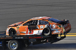 Daniel Suarez, Joe Gibbs Racing Toyota na crash