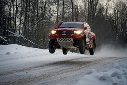 #1 Tamim AL-Majd Team Toyota Hilux Overdrive: Nasser Al-Attiyah, Mathieu Baumel