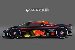 Aston Martin Valkyrie Red Bull racing livery