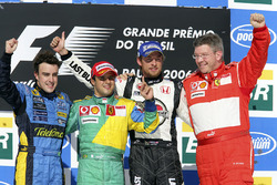 Podium: race winner Felipe Massa, Ferrari, second place Fernando Alonso, Renault, third place Jenson