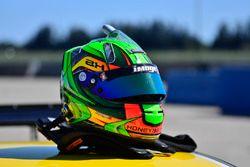 The helmet of Anthony Honeywell