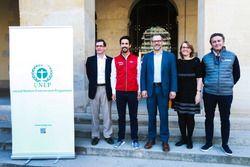 Mark Radka (Diretora de Energia e Clima da Divisão de Economia), Lucas di Grassi, Tim Kasten (Diretor Interino da Divisão de Economia), Helena Molin-Valdes (Chefe da Coalisão de Clima e Qualidade Atmosférica), Alejandro Agag (CEO da F-E)