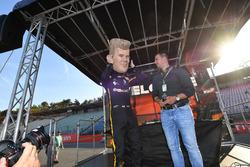 Nico Hulkenberg, Renault Sport F1 Team caricature on stage