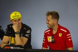 Нико Хюлькенберг, Renault Sport F1 Team, и Себастьян Феттель, Ferrari