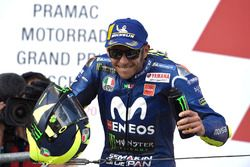 Podio: il secondo classificato Valentino Rossi, Yamaha Factory Racing